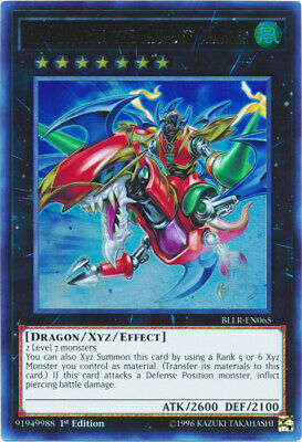 YuGiOh Gaia Dragon, the Thunder Charger - BLLR-EN065 - Ultra Rare - 1st Edition