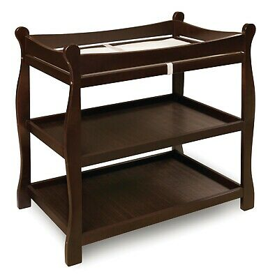 Espresso Badger Basket  Sleigh Style Baby Infant Newborn Changing Table   103