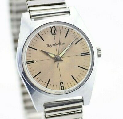 Vintage Citizen Rhythm Time Mechanical Watch 4-020596 Authentic JDM H191/58.4