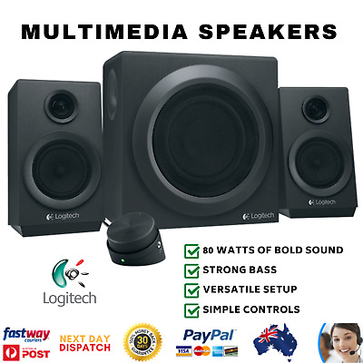 Logitech Z333 2.1 Multimedia Computer Speakers System with Subwoofer PC Home