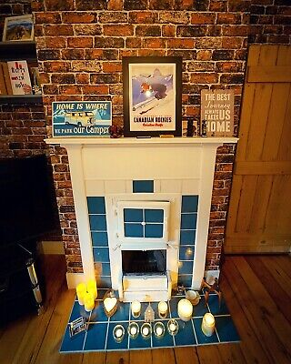 Victorian fireplace with bread oven