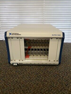 National Instruments NI PXI-1042 Chassis 8 slot Mainframe 188079B-01 Rev 01