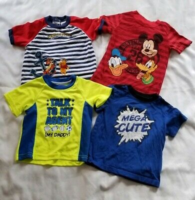 Toddler Boy 4 Short Sleeve T-Shirts Mickey Mouse Winne Pooh All Size18 Months