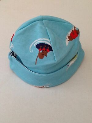 BNWT Joules Baby Reversible Jersey Hat with Surf Dog Print Babybonnetb 0-3 Mths