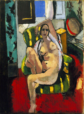 Art  HD Print Oil Painting Henri Matisse Odalisque with a Tambourine Wall Decor
