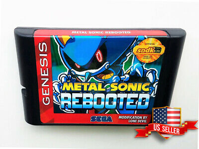 Metal Sonic Rebooted Sega Genesis Fan Hack (Heavily Modified Sonic 2) USA Seller