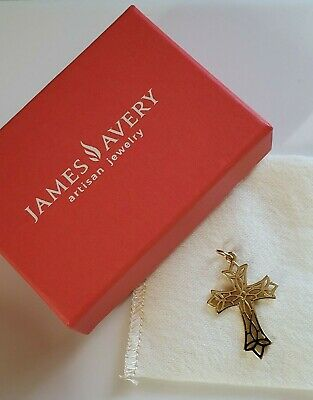 James Avery Retired 14K Gold Open Lattice Cross