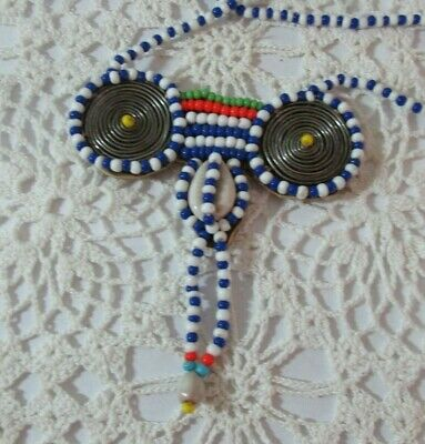 African Maasai Masai Beaded Ethnic Tribal Wedding Necklace  Kenya 22""