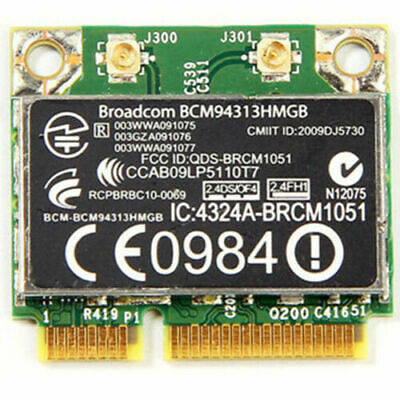 BROADCOM BCM94313HMGB B/G/N Wireless WiFi + Bluetooth 3 0 Combo Card