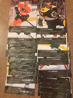 2015-16 Upper Deck Young Guns 20 Card Lot