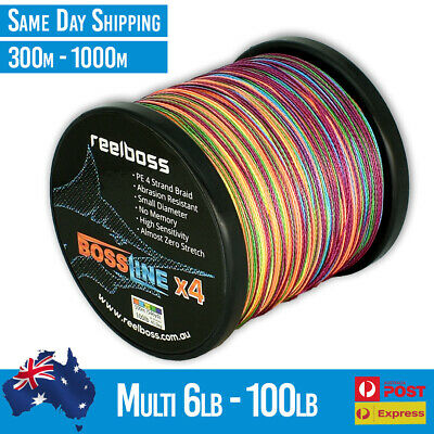 PE Braid Spectra Dyneema 8lb - 100lb 150m 300m 500m ReelBoss Fishing Line Multi