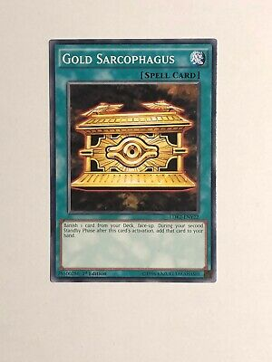 Ldk2-Eny22 Gold Sarcophagus 1St Edition Mint Yugioh Card
