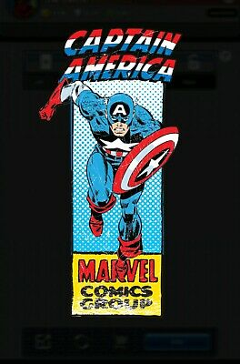 Corner Boxes Captain America Series 2 Wave 1 Topps Marvel Collect Rare 885cc