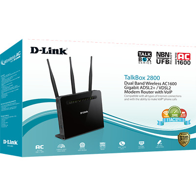 D-Link Dva-2800 Talkbox 2800 Dual Band Wireless Ac1600 Modem Router With Voip