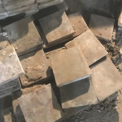 """OLD RECLAIMED QUARRY TILES - 9"""" square Up to 1.5"""" thick"""