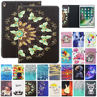 For iPad Mini 2 3 4 Case Cute Leather Pattern Protect Card Slot Flip Stand Cover