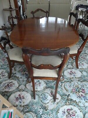 early rosewood dining chairs19th century wind out dining table original
