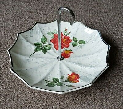 Vintage novelty quirky ceramic cake cupcake dish stand umbrella Widwinter Modern