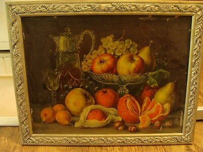 Antique French still Chromolithography Picture
