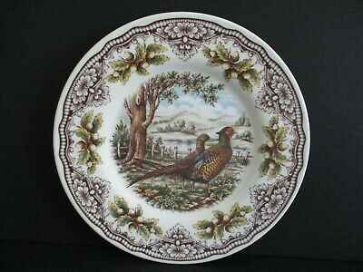 The Victorian English Pottery Pheasant Dinner Dessert Salad Plate Set of 1ea NWT