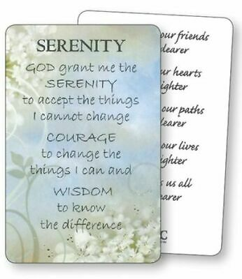 VINTAGE STAINED GLASS Serenity Prayer Plaque New Boxed Wall