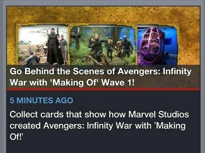 Topps Marvel Collect Making Of Avengers Infinity War Wave 1 Set + 2 Awards