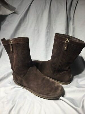 87017cd244c UGG WOMENS LO Pro Lace Up Tasman Boot Chestnut Brown Suede Size 6M ...