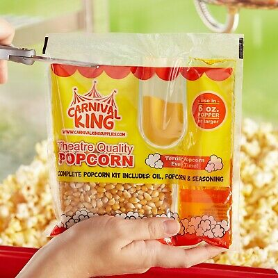 (36-Pack) All-In-One Large Butterfly Butter Popcorn Kit for 6 oz. Poppers