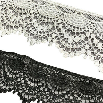 Black White Water Soluble Lace Craft Sewing Decor Wedding Embroidery Trim DIY