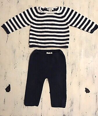 Boutique ANGEL DEAR Baby Boy Sweater And PANT SET OUTFIT 6-9 mth EUC!