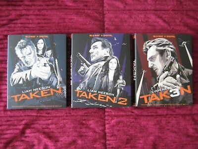 Taken 1 2 3 Set Of Blu-Ray Slipcovers Only (No Movies) Free Shipping Rare Htf