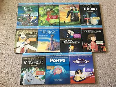 Studio Ghibli Gkids Blu-Ray Slipcovers Cat Returns Mune Nausicaa Totoro Kiki's