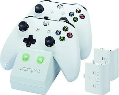 Venom Twin Charge Docking Station with 2x Rechargeable Battery Packs (White) for