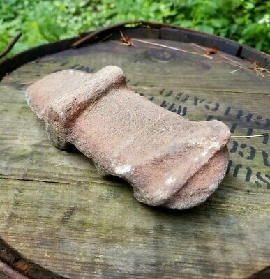 Archaic Indian Stone Tool Primitive Native American War Hammer Hafted Axe Head