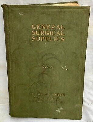 1926 antique •SURGICAL SUPPLIES CATALOG• old Medical Cabinets devices tools etc.