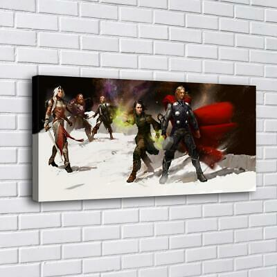 "Thor and Loki Home Decor Room HD Canva Print Picture Wall Art Painting  16""x32"""