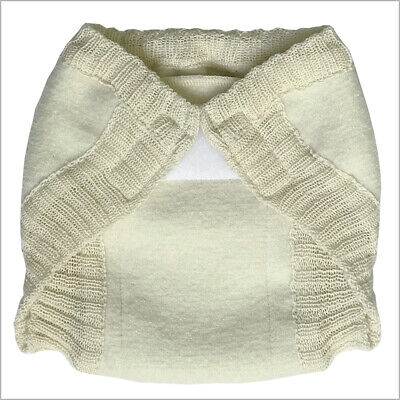 Overnight Boiled Merino Wool Diaper Cover with Hook-&-Loop for Baby or Toddler