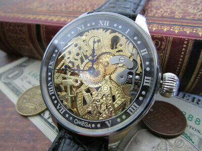 Omega watches antique OH hand-rolled 1908 skeleton Vintage Masonic
