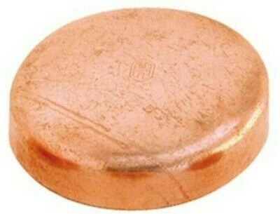"2x Heldon REFRIGERATION COPPER END CAPS R410A- 1"" Or 2"""