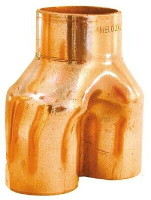 "Heldon REFRIGERATION Y-PIECE - 1 1/8""x5/8""x5/8"" Or 1 1/8""x3/4""x3/4"""