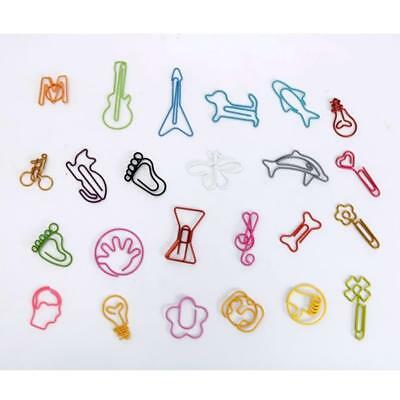 30pcs/lot Cute Cartoon Animal Shape Paper Clips Creative Interesting Clip-aua