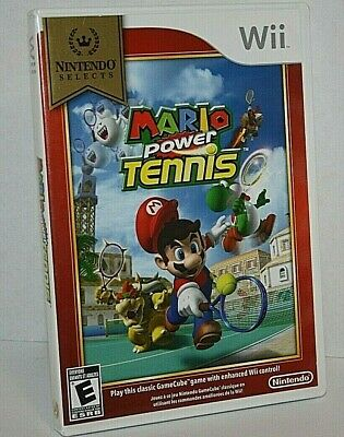 Mario Power Tennis Wii Game Nintendo Selects Everyone Great Condition