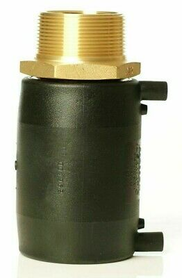 Plasson ELECTROFUSION TRANSITION COUPLING 63x32mm Male Brass BSP Outlet