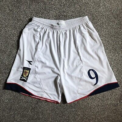 Scotland 2008/09/10 Diadora Match Worn Issue Home Shorts #9 Kenny Miller Boyd
