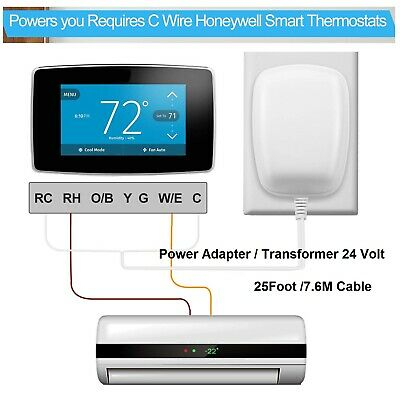 ADAPTERS 24VOLT TRANSFORMER Power Adapter C-Wire Thermostat