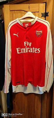 Arsenal home shirt xl Long Sleeved please see pics