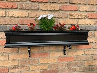 Wooden Window Box Planter For Flowers, Herbs & Shrubs. Free P&P
