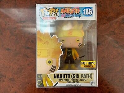 Funko POP! Naruto (Six Path) Hot Topic Exclusive #186 GITD W/ Protector