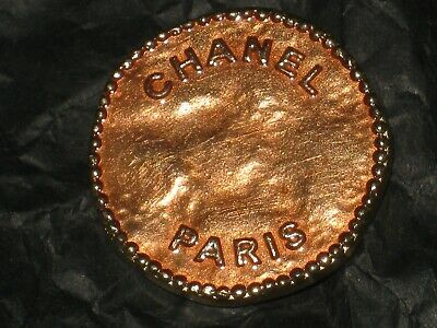 Chanel Paris 1 Cc  Matte Gold 22 Mm Metal Apricot   Buttons This Is For 1