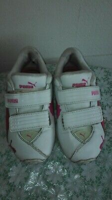 Puma Girl's White Trainers Size 10